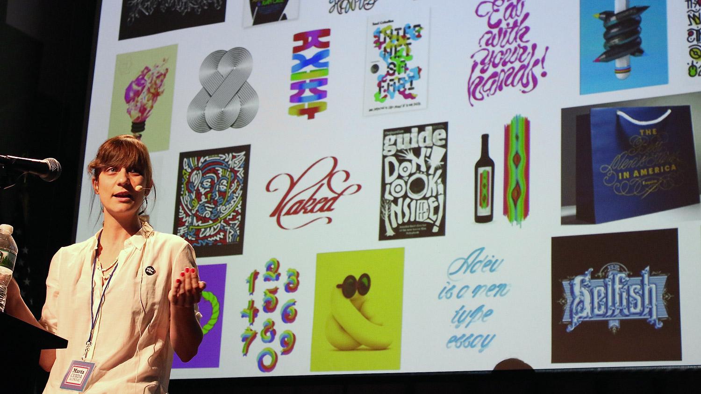 Marta Cerdà Alimbau speaking at Typographics NYC 2016. Photo © 2016 Henrique Nardi.