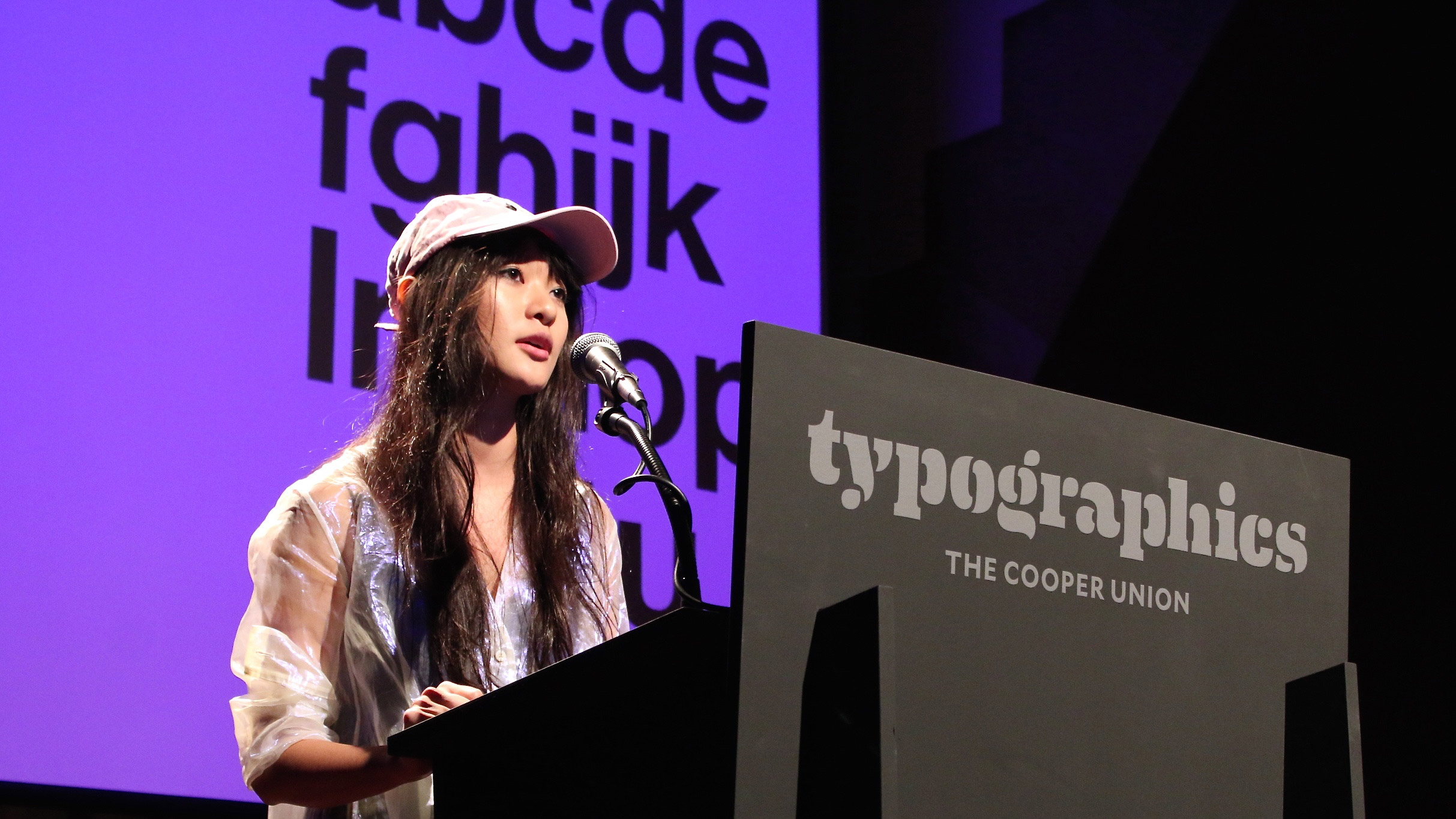 Tracy Ma speaking at Typographics NYC 2016. Photo © 2016 Henrique Nardi.